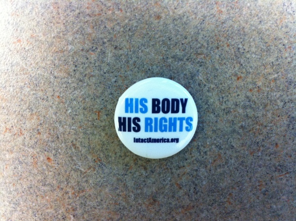 His Body His Rights Button